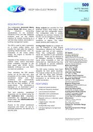 spec sheet (PDF 188k) - Power Drive Systems Generator Automatic ...
