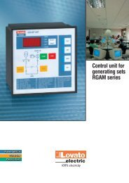 Control unit for generating sets RGAM series - LOVATO Electric SpA