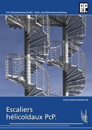 Escaliers hélicoïdaux PcP. - PcP . PcP. Sicherheitsroste GmbH ...