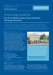 The ISC & Norfolk County Council Contractor Partnering Framework