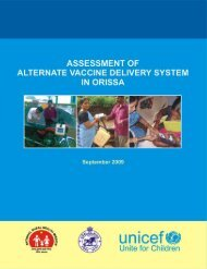ASSESSMENT OF ALTERNATE VACCINE DELIVERY ... - Unicef