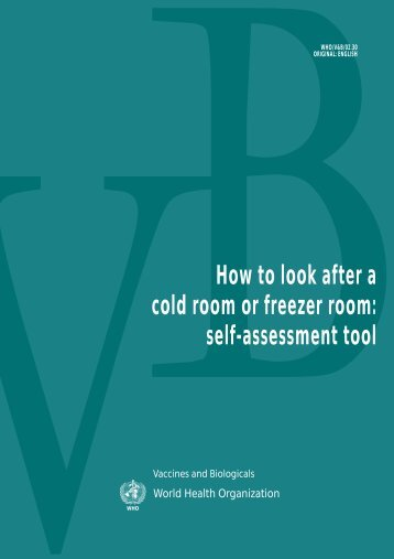 How to look after a cold room or freezer room - libdoc.who.int - World ...
