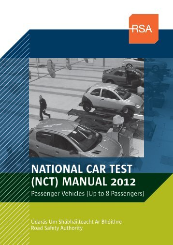 NATIONAL CAR TEST (NCT) MANUAL 2012