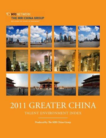 2011 GREATER CHINA - MRI China Group