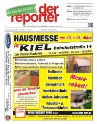 der reporter - Das Familienwochenblatt für Plön und Preetz 2015 KW 11