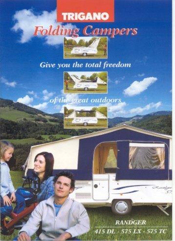 Trigano Folding Camper brochure - Camperlands