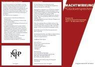 Flyer Kongress 2013 - Neue Gesellschaft für Psychologie