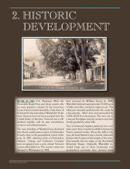 Chapter 2. Historic Development - Town of Waitsfield, Vermont
