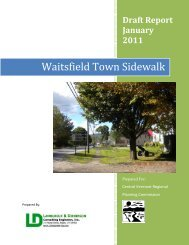 Waitsfield Sidewalk DRAFT Report - Town of Waitsfield, Vermont