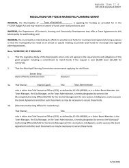 resolution for fy2014 municipal planning grant - Town of Waitsfield ...