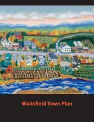 Waitsfield Town Plan DRAFT - Town of Waitsfield, Vermont