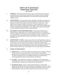 Domestic partner draft amendment - Town of Waitsfield, Vermont