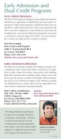 Early Admission Brochure - Dona Ana Community College - Page 2