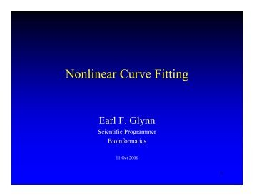 Nonlinear Curve Fitting - Stowers Institute for Medical Research