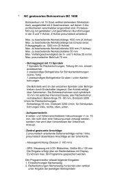 NC gesteuertes Bohrzentrum BC 1600 - bei Hans Koch GmbH