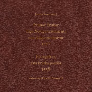 Zbrana dela Primoža Trubarja VIII - Pedagoški inštitut