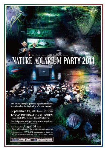 Nature Aquarium Party 2011 Flier in ENGLISH - The International ...