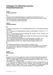 Vedtægter for Offentligt Ansattes Arbejdsløshedskasse - FOA