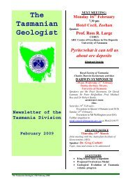 The Tasmanian Geologist - Geological Society of Australia