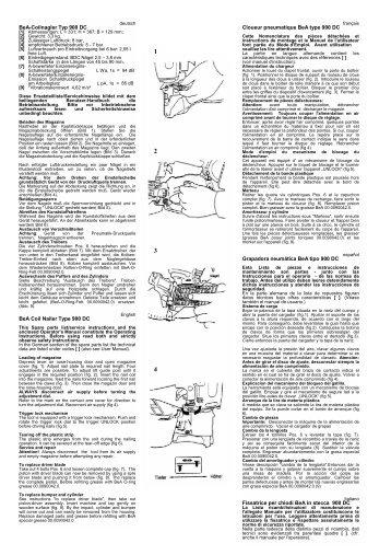 BeA-Coilnagler Typ 900 DC BeA Coil Nailer Type 900 DC Cloueur ...