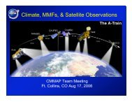 Climate, MMFs, & Satellite Observations - cmmap