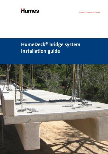 HumeDeck® bridge system Installation guide - Humes