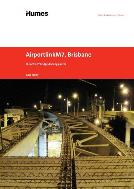 HumeSlab® bridge decking for Brisbane's AirportlinkM7 - Case study