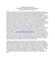 Changing Climates @ CSU: Teaching and Talking about ... - cmmap