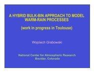 A Hybrid Bulk-bin Approach to Model Warm-rain Processes - cmmap