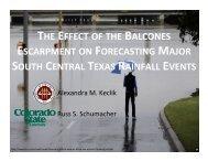 the effect of the balcones escarpment on forecasting major ... - cmmap