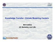Knowledge Transfer: Climate Modeling Centers - cmmap