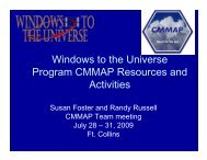 Windows to the Universe Program CMMAP Resources and Activities