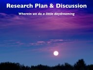 Research Plan & Discussion - cmmap