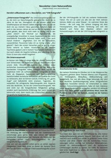 Newsletter 2/2009 Naturundfoto