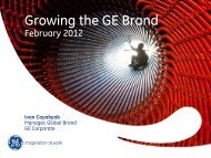 Growing the GE Brand - MASB