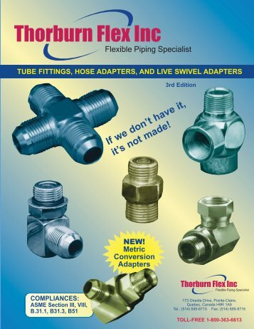 Fittings & Adapters - Thorburn Flex Inc