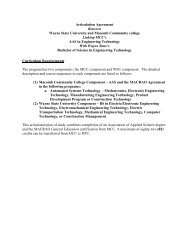 Articulation Agreement linking MCC's AAS in ... - Transfer Credit