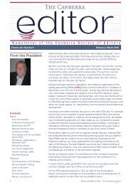 The Canberra editor February-March 2015
