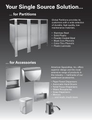 Your Single Source Solution... ... for Partitions - Equipment World Inc.