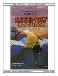 Using 6502 Assembly Language by Randy Hyde - Plantation ...
