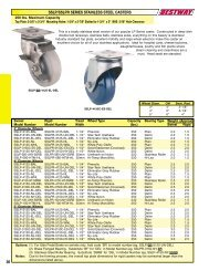 30 sslp/sslpr series stainless steel casters - Equipment World Inc.