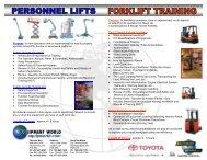 Forklift Safety Training Brochure Aug07 - Equipment World Inc.