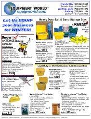 Heavy Duty Salt & Sand Storage Bins - Equipment World Inc.
