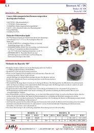 Bremsen AC / DC L 1 - Kurt Maier Motor-Press GmbH
