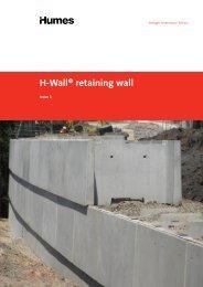 H-Wall® retaining wall - Humes