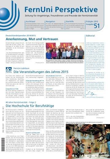 FernUni Perspektive Ausgabe 51 - Frühjahr 2015