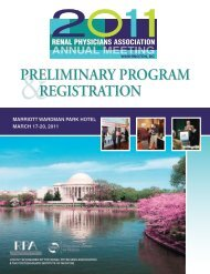 Preliminary Program registration - Renal Physicians Association