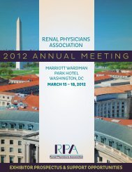 2012 AnnuAl Meeting - Renal Physicians Association