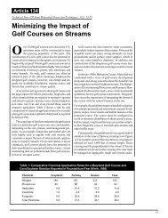 Minimizing the Impact of Golf Courses on Streams - Hillsborough ...