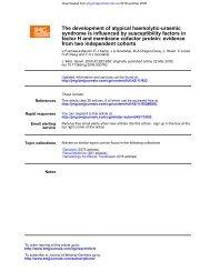 Fremeaux-Bacchi Study - Atypical Hemolytic Uremic Syndrome